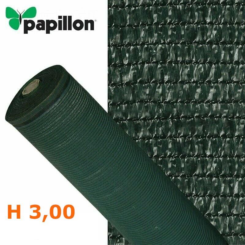 Telo rete ombreggiante alta schermatura 90% oscurante verde H 3,00 Papillon 91192 VENDITA A MISURA