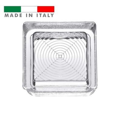Vetromattone pavimento vetrocemento vetro a tazza pedonabile  14.5x14.5x5.5