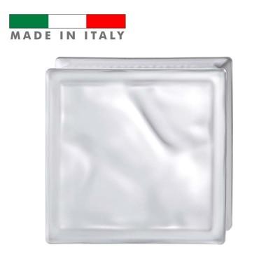 Vetromattone ondulato vetrocemento mattone vetro Satinato Pure Bormioli 19X19X8