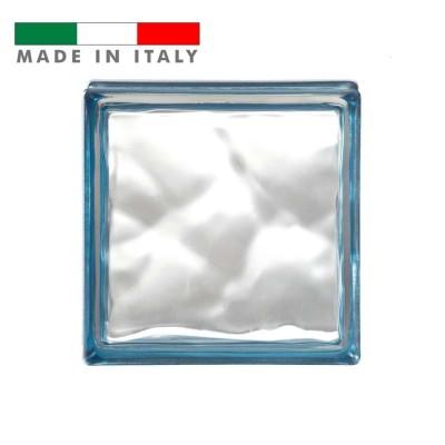 Vetromattone ondulato vetrocemento mattone vetro Indaco Reflejos Bormioli 19X19X8