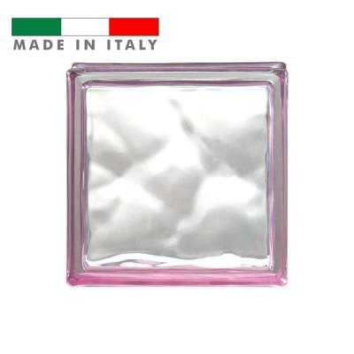 Vetromattone ondulato vetrocemento mattone vetro Ametista Reflejos Bormioli 19X19X8