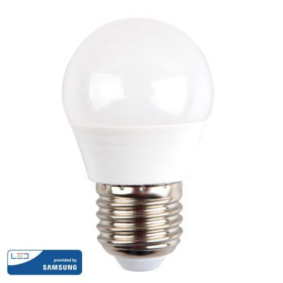 LAMPADINE LED E27 G45 4.5W SMD SAMSUNG MINIGLOBO LUCE NATURALE 4000K V-TAC VT-245 262