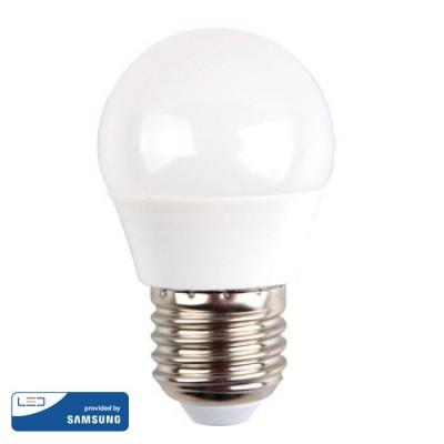 LAMPADINE LED E27 G45 4.5W SMD SAMSUNG MINIGLOBO LUCE FREDDA 6400K V-TAC VT-245 263