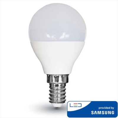 LAMPADINE LED E14 P45 4.5W SMD SAMSUNG MINIGLOBO LUCE NATURALE 4000K V-TAC VT-225 265