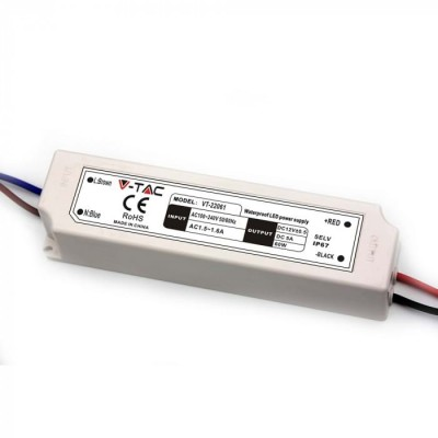 ALIMENTATORE STRISCE LED IMPERMEABILE ESTERNO 12V 60W IP67 1 USCITA V TAC VT-22061 3234
