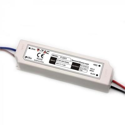 ALIMENTATORE STRISCE LED IMPERMEABILE ESTERNO 12V 75W IP67 1 USCITA V TAC VT-22075 3235