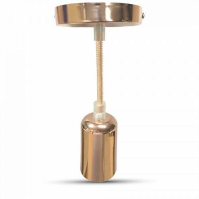 Portalampada lampadario in metallo cromato a specchio oro rosa E27 V-Tac VT-7448 3777