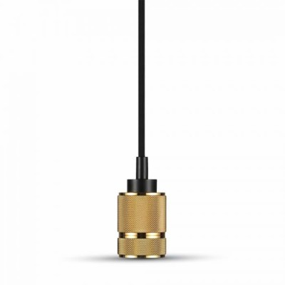 Lampadario metallo pendente portalampada E27 Oro V-Tac VT-7999 3811
