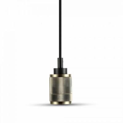 Lampadario metallo pendente portalampada E27 Bronzo rigato V-Tac VT-7999 3814