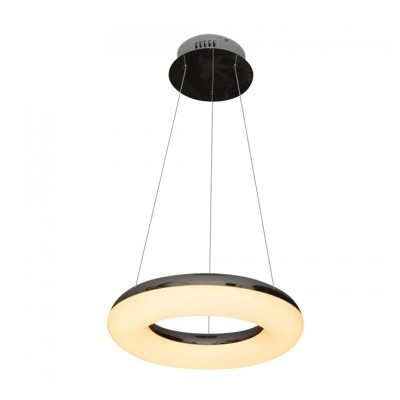 Lampadario led ad anello sospensione metallo cromato Luce calda 3000K V-Tac VT-40-1 3874