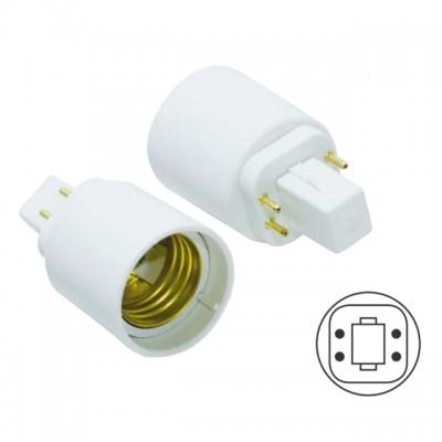 Adattatore riduttore lampada da G24 4 Pin a E27 Life 39.PA2427Q