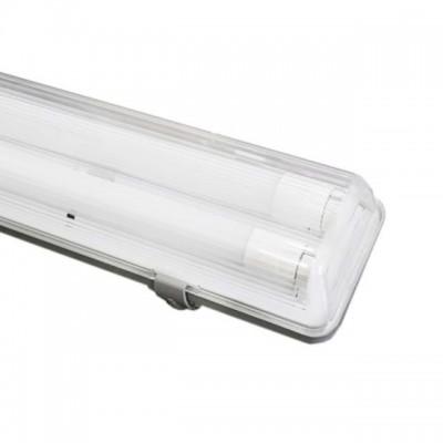 Plafoniera led doppia 120 cm per due tubi neon led IP65 esterno Life 4589 39.PFL0212