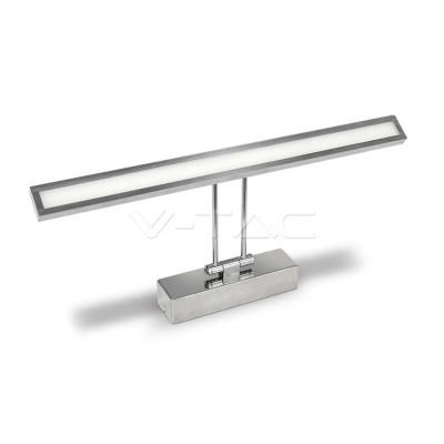Lampada led specchio 8W orientabile 45 cm acciaio inox Luce naturale 4000K V-Tac VT-7009 CH 3900