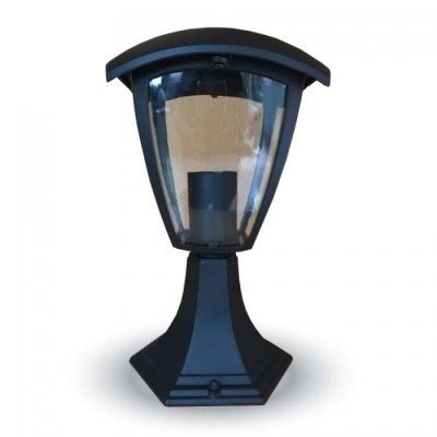 Lampione piccolo lampada a terra alluminio lanterna segnapasso E27 IP44 esterno V-Tac VT-734 7057