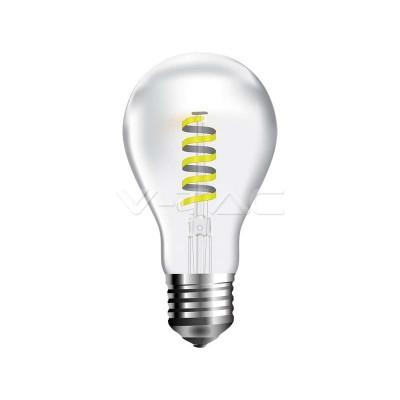 LAMPADINE LED E27 4W A60 FILAMENTO SPIRALE VETRO LUCE CALDA 2700K V TAC VT-2164 7336