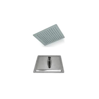 Soffione doccia quadrato 40x40 extrasottile anticalcare acciaio inox
