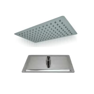 Soffione doccia rettangolare 30x20 extrasottile anticalcare acciaio inox