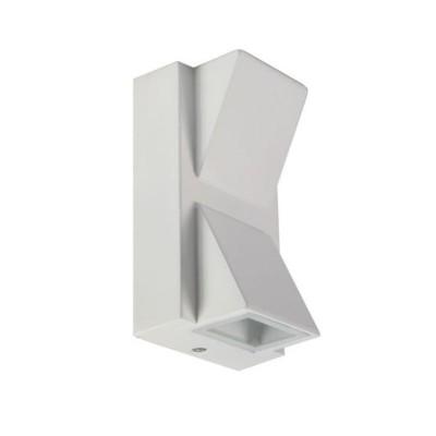 Applique led a muro lampada doppio fascio bianco 10W IP55 esterno Universo ES04