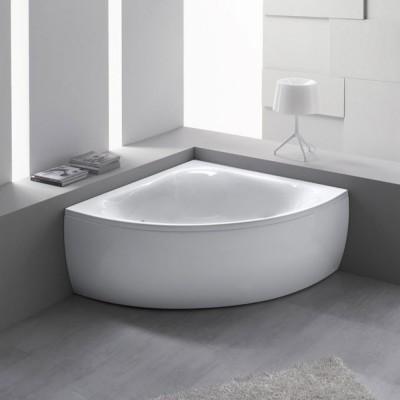 Vasca da bagno angolare 140X140 semicircolare acrilico con pannello frontale Bora