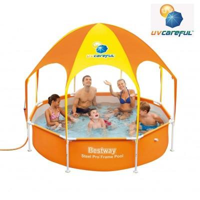 Piscima fuori terra bambini con ombrellone e doccetta 244 X 51 Bestway Splash in shade 56432