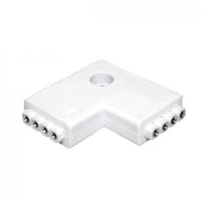 CONNETTORE ANGOLARE CONSECUTIVO PER STRISCE LED 5050 RGB MULTICOLORE A 4 PIN V TAC 3511