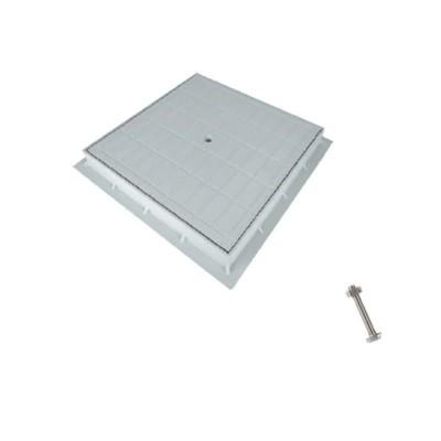 Coperchio chiusino e telaio polipropilene PP grigio 45x45