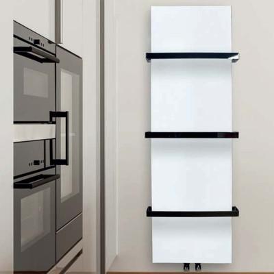 Termoarredo scaldasalviette a piastra radiatore bianco opaco 200x50 Termotech Luana