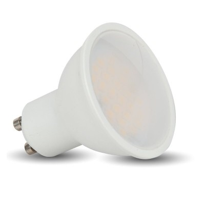 Faretto led GU10 5W lampadina spotlight milky cover copertura satinata V TAC VT-1975 1685 1686 1687