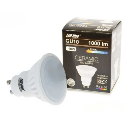 FARETTI LED GU10 10W SMD CERAMICA HIGH LUMEN SPOT LIGHT LUCE NATURALE 4000K LED LINE 248597
