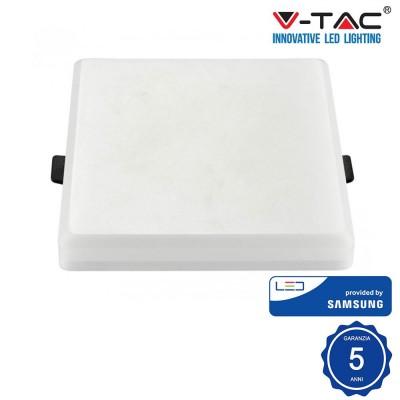 Pannello Led Quadrato 8W 120° Samsung chip smd Luce Fredda 6400K V TAC PRO VT-608SQ 625