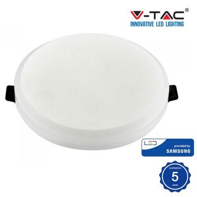 Pannello Led Rotondo 8W 120° Samsung chip smd Luce Calda 3000K V TAC PRO VT-608RD 626
