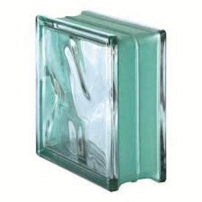 Vetromattone ondulato vetrocemento mattone vetro Caribe Agua Bormioli 19X19X8