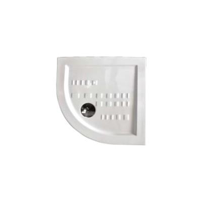Piatto doccia semicircolare angolare ceramica slim ribassato 80x80 H 5,5 bianco Althea Ito