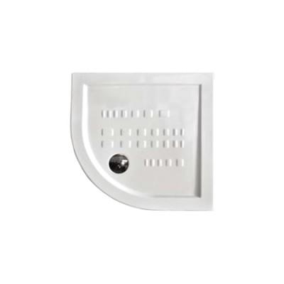 Piatto doccia semicircolare angolare ceramica slim ribassato 90x90 H 5,5 bianco Althea Ito