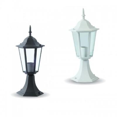 Lampione piccolo lampada a terra alluminio segnapasso E27 IP44 esterno V-Tac VT-753 7075/7074