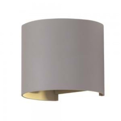 Applique lampada a muro doppio fascio luce led 6W IP65 grigio esterno V-Tac VT-756 7083/7092