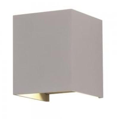Applique lampada a muro doppio fascio luce led 6W IP65 quadrato grigio esterno V-Tac VT-759 7080/7089