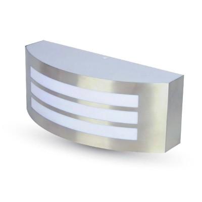 Lampada applique a muro parete per esterno E27 IP44 acciaio inox V Tac VT-7680 7514