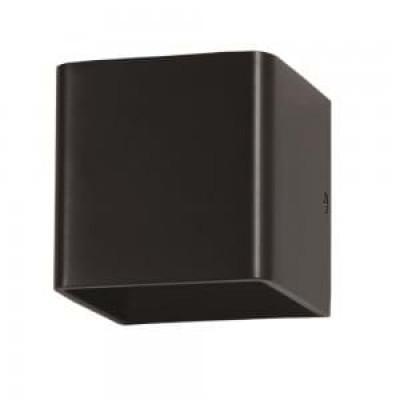 Applique lampada a muro cubo doppio fascio led 5W IP44 nero esterno V-Tac VT-758 7084/7094