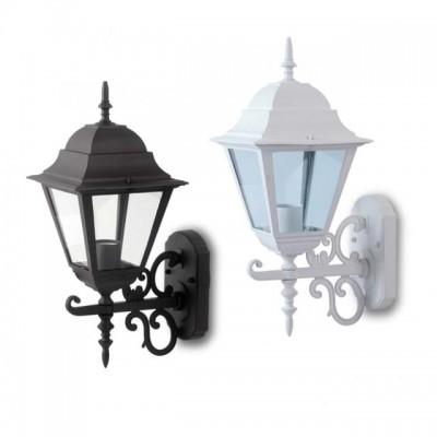 Applique plafoniera lampada a muro lanterna alluminio E27 IP44 esterno V-Tac VT-760 7520/7519