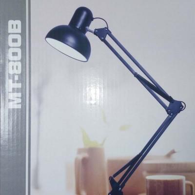 Lampada da tavolo a pinza morsetto portalampada E27 pieghevole nero