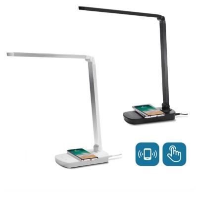 Lampada tavolo led 5W con ricarica Wireless QI Smartphone dimmerabile touch Mona Aigostar