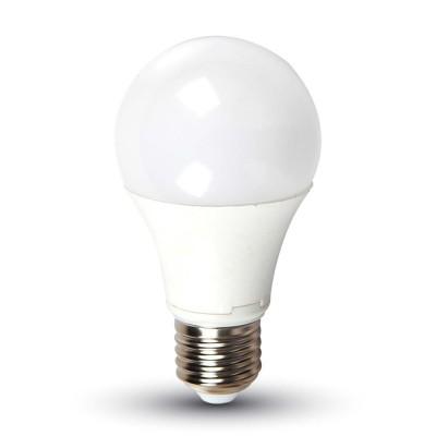 LAMPADINE LED E27 9W A60 SMD CON SENSORE CREPUSCOLARE LUCE CALDA 2700K V TAC VT-2016 4459
