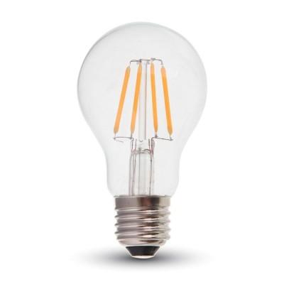 Lampadina led filamento vetro trasparente E27 5,2W Luce Calda 2700K ILLUMIA LNBLE27WW05W04