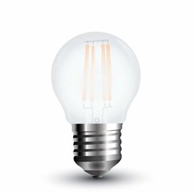 Lampadine led vetro satinato E27 4W G45 filamento miniglobo Luce fredda V Tac VT-1974 4497