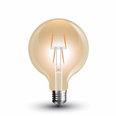 LAMPADINE LED E27 4W SMD G80 GLOBO VINTAGE 8 FILAMENTI AMBRATA V TAC VT-2004 7148