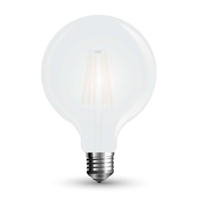 Lampadine led globo E27 7W G125 filamento vetro satinato frost V Tac VT-2067 7189/7190