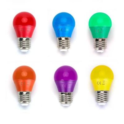 Lampadine led E27 G45 4W miniglobo colorate rosso blu verde arancione viola giallo Aigostar