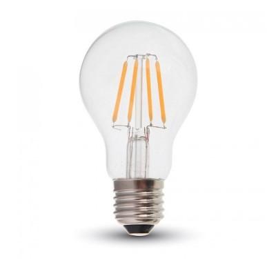 Lampadine led filamento E27 4W A60 vetro trasparente V Tac VT-1885 4259 7119 7120
