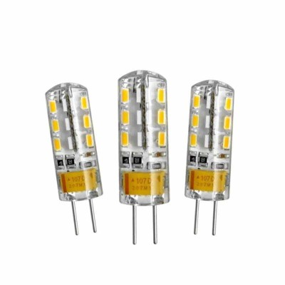 LAMPADINE LED G4 2W 12V MINILAMPADINA BISPINA 3 PEZZI LUCE FREDDA 6400K EX-00018 PROMO 3x2